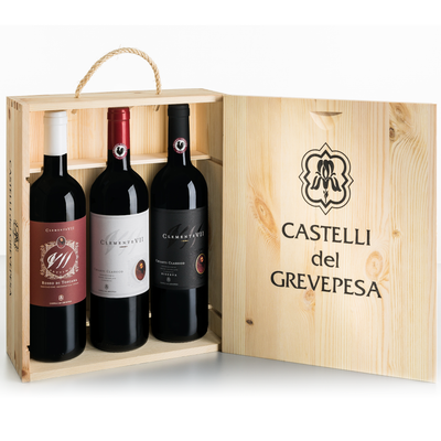 Castelli del Grevepesa Clemente VII Trio in Wood Gift Box