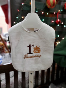 """1st Thanksgiving"" Baby Bib"