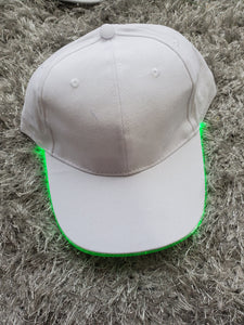 White Baseball Caps with Lighted Brim