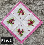 Floral Handkerchiefs with Boarders