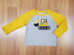 Boys Tractor Long Sleeve Shirt