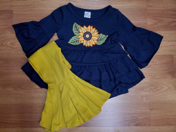 Sunflower Top and Ruffled Pants