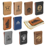 Laserable Leatherette Money Clip