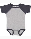 Short Sleeve Baseball Onesie