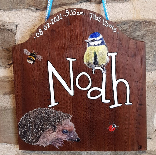 Commission - New Baby Sign, Child's Bedroom