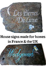 Load image into Gallery viewer, Commission - Home or Business Signs on wood or slate