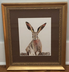 Print : Pen & Ink Hare print from original artwork