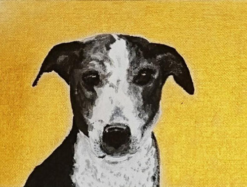 Commission - Icon-Style Pet Portrait On Canvas