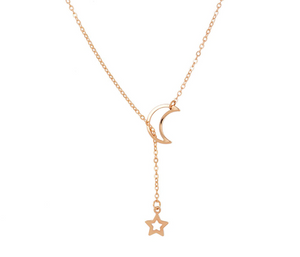 Moon Star Y Necklace Gift For Women Girl Choker Necklace