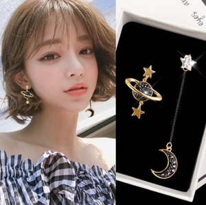 Star Moon Earrings Women Fashion