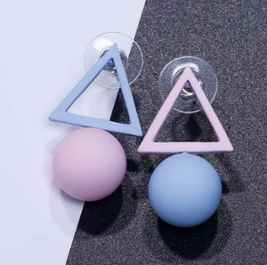 Triangle Different Candy Color Earrings For Women