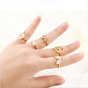 Lord OF the rings 5pcs/set Mind Finger Rings