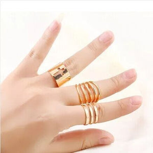 BLACK and Golden KNUCKLE RINGS