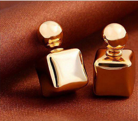 Hot! Women's Elegant Candy Double Sided Round Charm Earrings Square