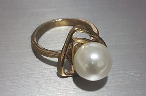 Clavicle Necklace Pearl Design Ring