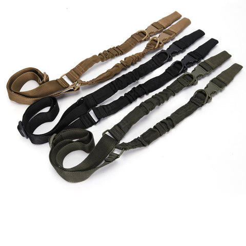 Tactical 2 Single Point Bungee Rifle Gun Sling Strap W/ Quick Release Buckle