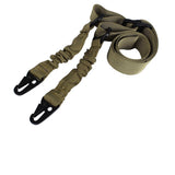 Tactical Two Point Rifle Sling Strap Adjustable Bungee Gun Sling Quick Release