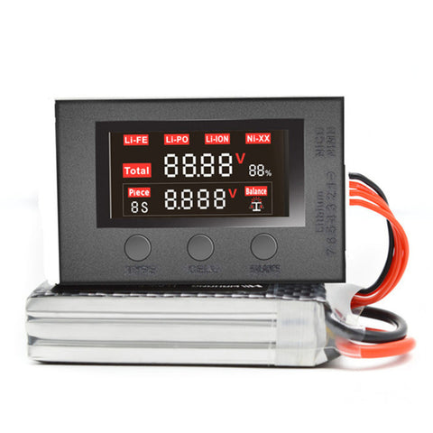 2-7S Battery Voltage Capacity Checker with Balance