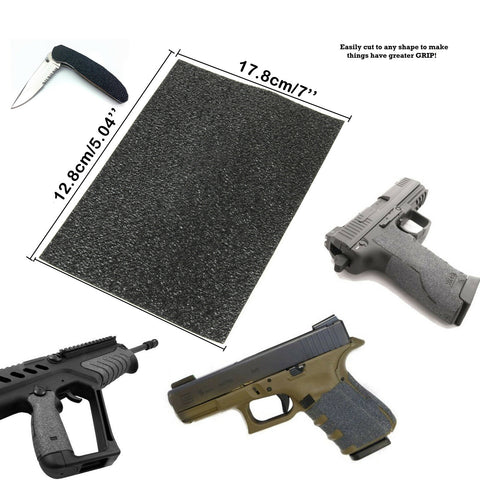 "Grips Material Sheet 5""x7"" Rubber Grip Tape for Guns Phones Tools"