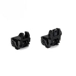 Ohhunt Polymer Front Rear Sight Flip Up Backup Sights Fit on Picatinny Rail 20mm