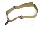 Tactical 1 Single Point Adjustable Bungee Rifle Gun Sling Quick Detach Strap