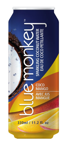 Blue Monkey Sparkling Coconut Water with Mango
