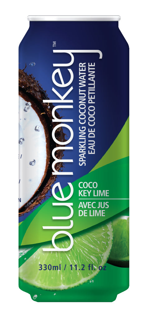 Blue Monkey Sparkling Coconut Water with Key Lime