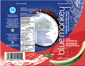 Sparkling Coconut Water with Watermelon 11.2oz/330ml - 12 pack