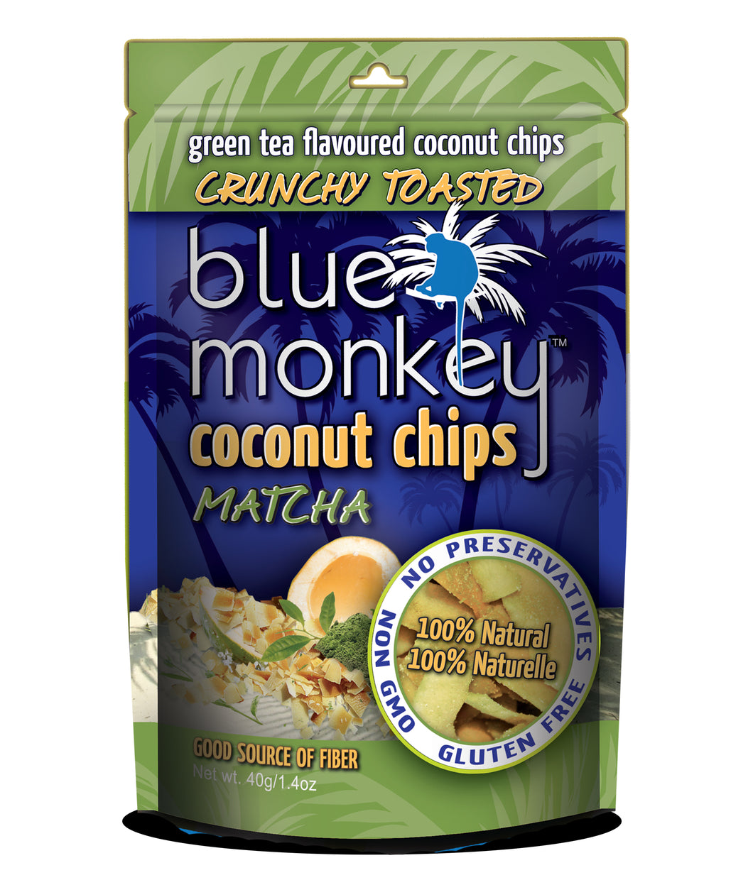 Coconut Chips Matcha - 24 pack