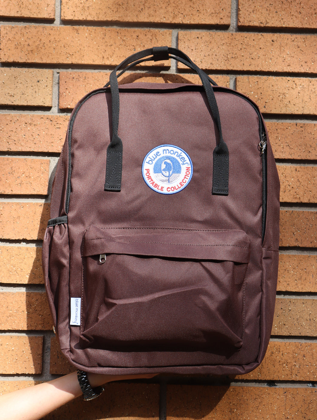 Blue Monkey Chocolate Brown Backpack