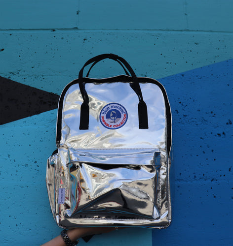 Blue Monkey Chrome Backpack