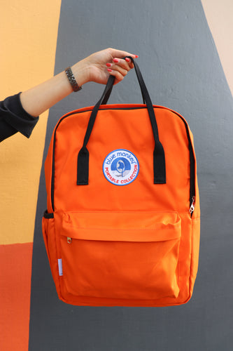 Blue Monkey Orange Backpack