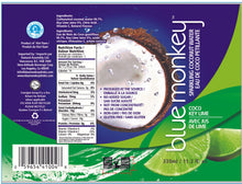 Load image into Gallery viewer, Sparkling Coconut Water with Key Lime 11.2oz/330ml - 12 pack