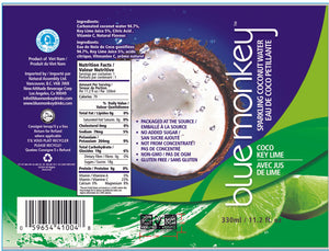 Sparkling Coconut Water with Key Lime 11.2oz/330ml - 12 pack