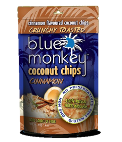 Blue Monkey Coconut Chips Cinnamon