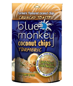 Blue Monkey Coconut Chips Turmeric