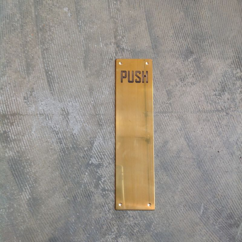 BRASS PUSH PLATE (文字入り) 押し板