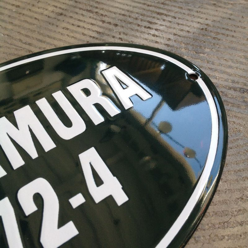 CLASSIC ENAMEL SIGN OVAL ネームプレート