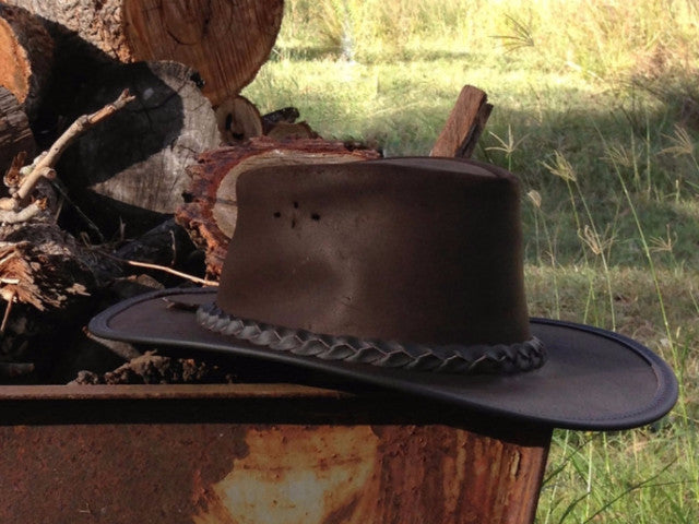 THE SWAGMAN LEATHER HAT