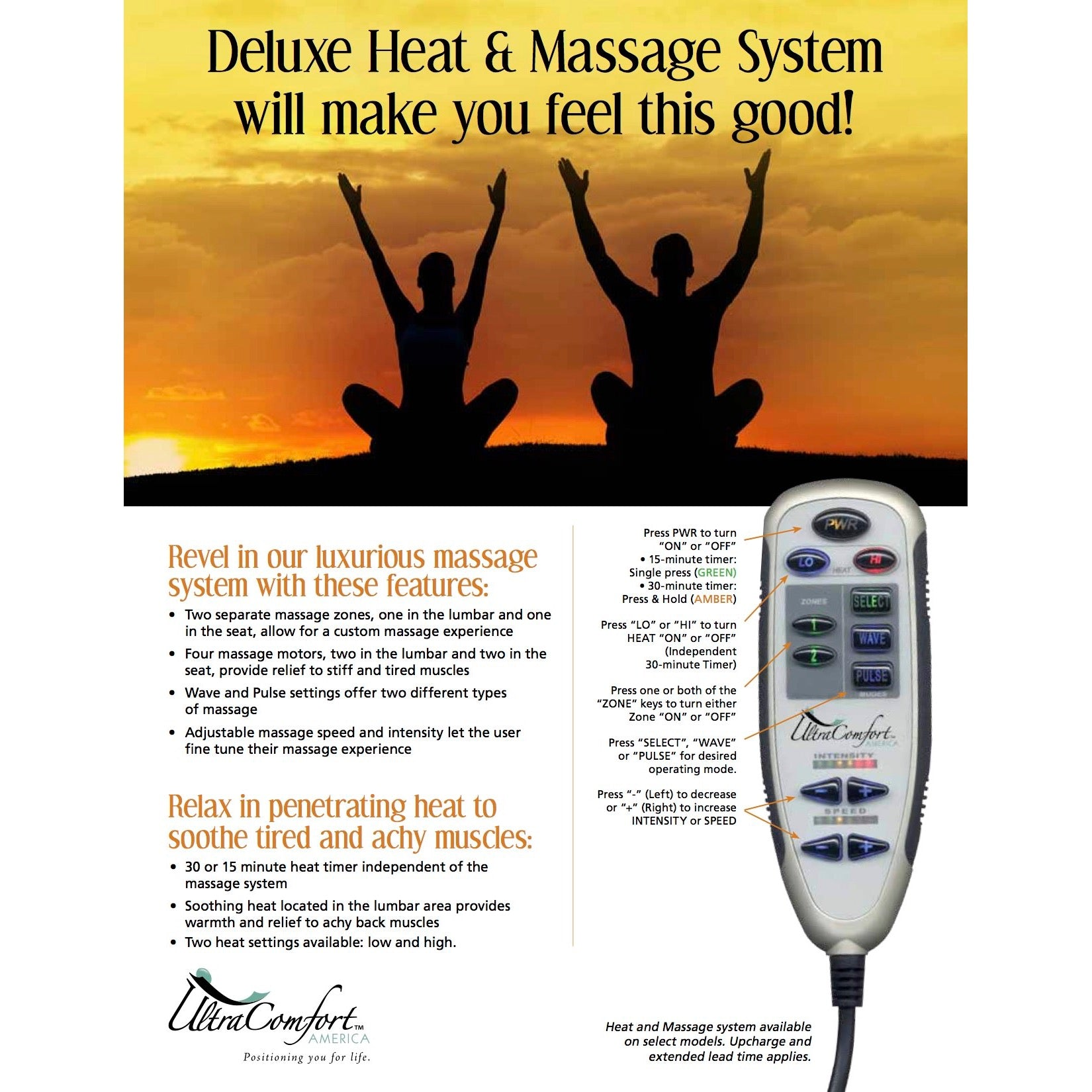 4 motor Heat & Massage