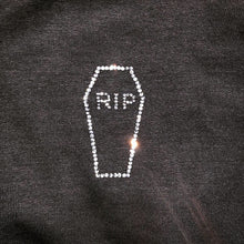 "Load image into Gallery viewer, ""Im So Dead"" Crystal Casket Crewneck"