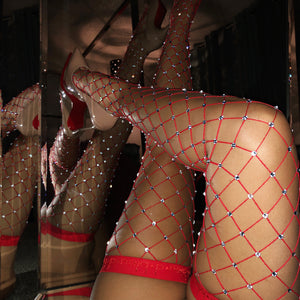 Dazzle Queen | Thigh Highs | Red