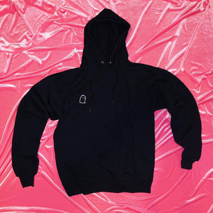 """Ghosted"" Crystal Ghost Hoodie"