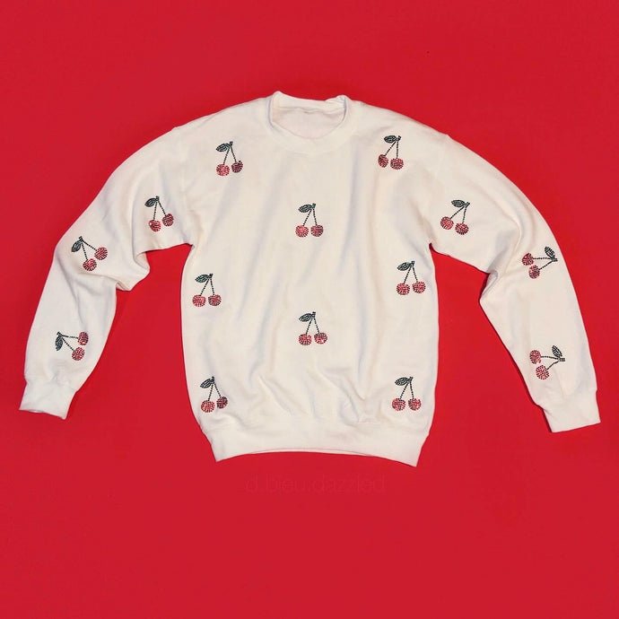 Crystal Cherry Crewneck | Full Coverage