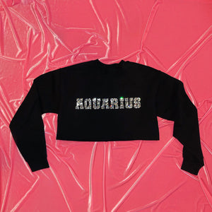 """Star Sign"" Crop Crewneck"