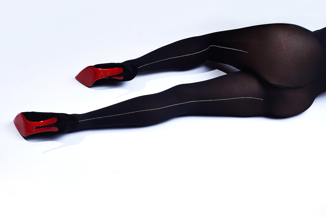 Crystal Backseam Tights