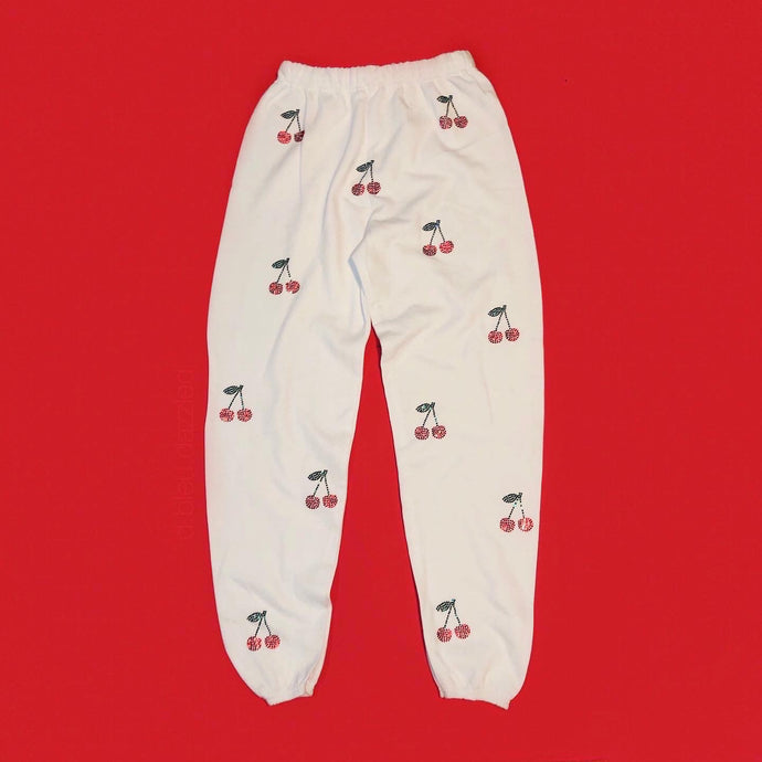 Crystal Cherry Sweatpants Full Coverage