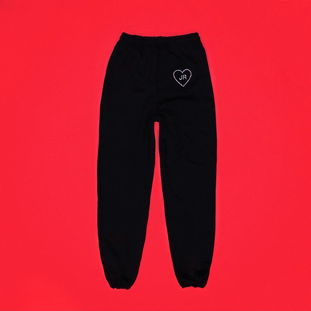 bleu valentine CUST♡M Sweatpants | Small Heart