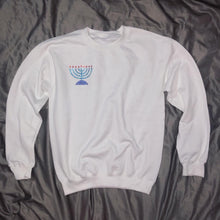 Load image into Gallery viewer, Crystal Menorah Crewneck