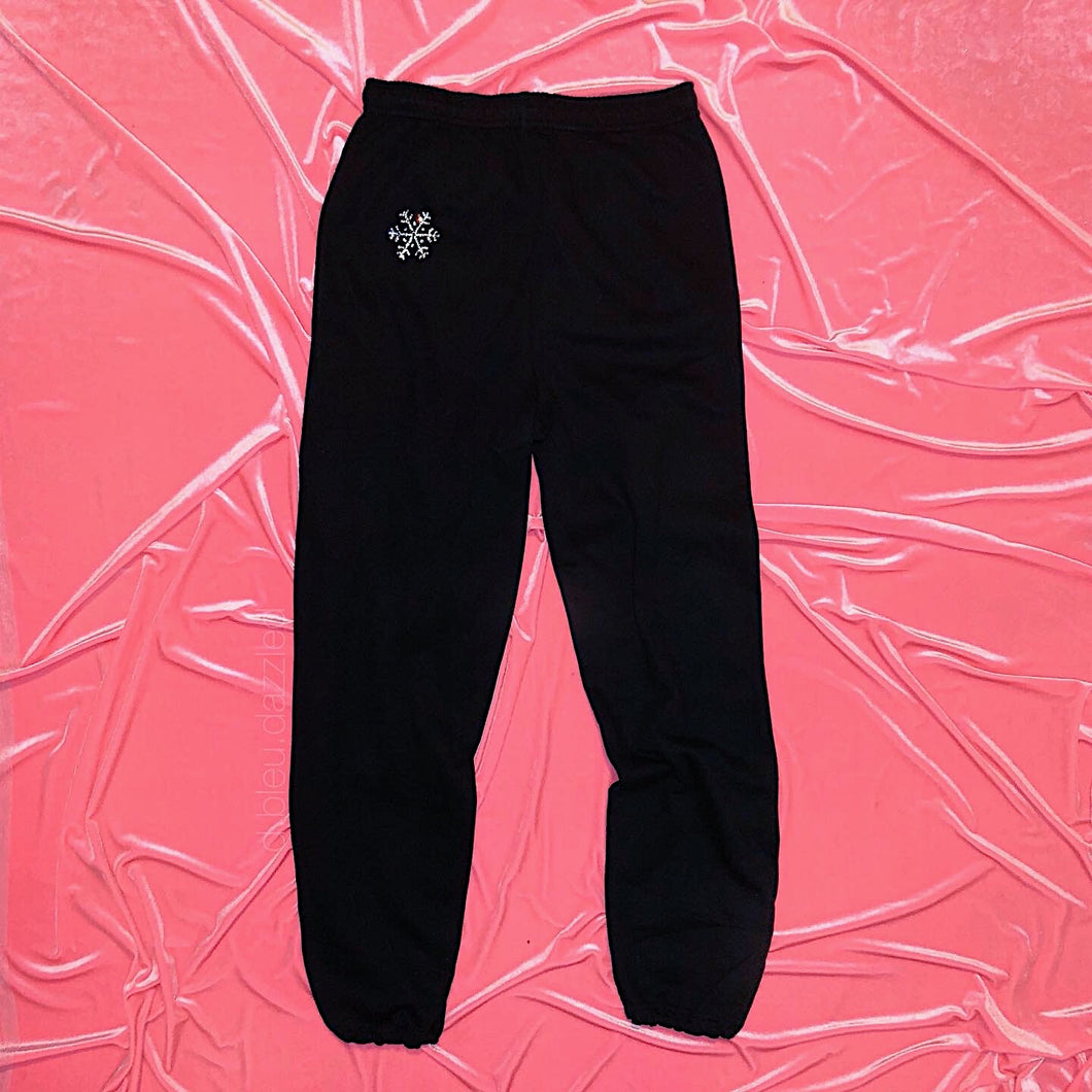 Crystal Snowflake Sweatpants